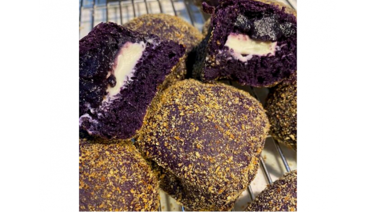 Ube Pandesal with Creamcheese and Halaya image