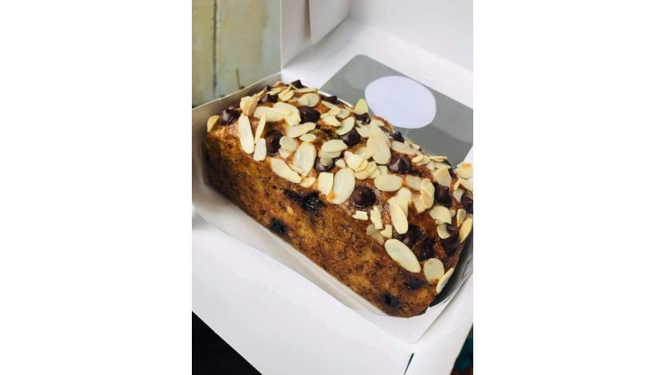 Almond + Chocolate Chip Banana bread image